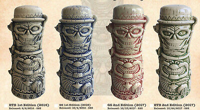 Trader Sams Haunted Mansion Hitchhiking Ghosts Complete Set Blue Black Red Green