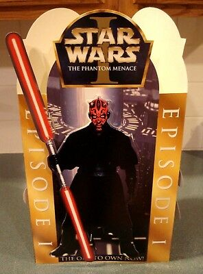 Star Wars I: The Phantom Menace 3-Sided 3D Store Counter Card Display Sealed New