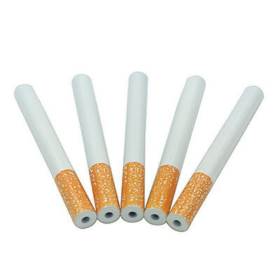 New 5PCS 78mm Cigarette Shape Metal One Hitter Pipe Dugout Smoking Tobacco Pipe