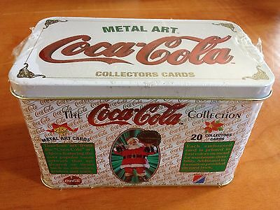 1994 Coca Cola Limited Edition Metal Art Collector's Cards In Sealed Tin.