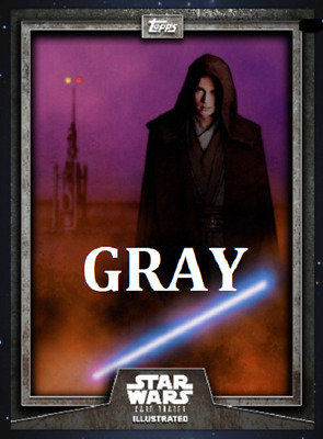 Topps Star Wars Card Trader Illustrated Cti S6 Wave 2 Anakin Skywalker Gray