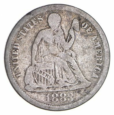 Historic 1883 Seated Liberty Dime *926