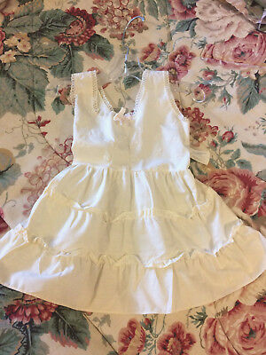 White cotton baby/doll slip with ruffles size 1