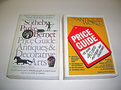 2 Collectibles Books The Antiques World Price Guide Sotheby Antiques Decor. Arts