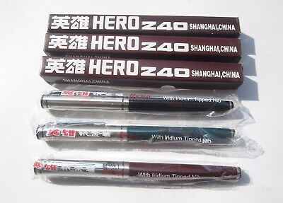 new old stock  Vintage  HERO 240 Fountain Pen Fountain Arrow Inlaid Grip Coveted