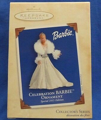 NEW Hallmark 2003 CELEBRATION BARBIE ORNAMENT Special Edition #4 in Series