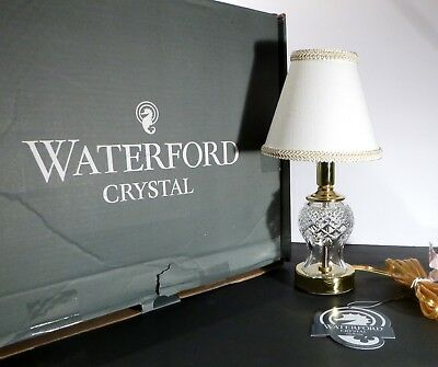 """*NEW* Waterford Crystal SULLIVAN Mini Electric Accent Lamp 13"""" New in Box w Tags"""