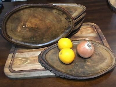 Wooden Platters- Avocado Wood- Hand Made on Guam-Live Edge