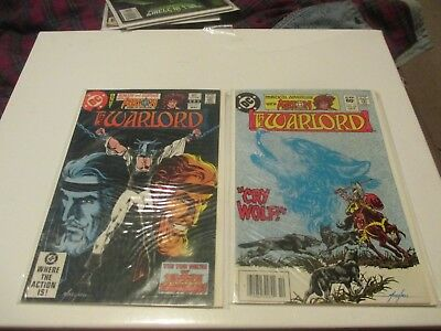Lot Of 2 Dc Comics The Warlord Arion Issue 57 & 62