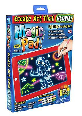 Magic Pad Light Up LED Board Draw Sketch Doodle Learning Tablet Colorful Effects