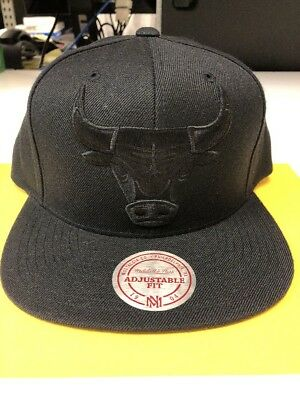 Chicago Bulls Snapback Cap Mitchell & Ness Black