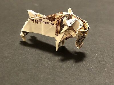Two Origami Ox/bull Made With Real Money