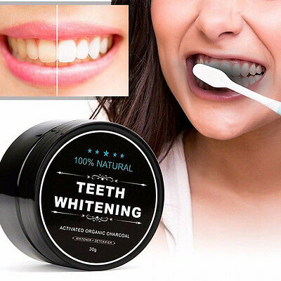 30g Activated Charcoal  Shell Powder Carbon Coco Teeth Whitening Organic Coconut