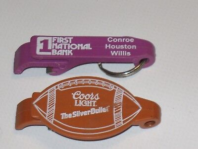 Vintage Coors Light Key fob Bottle Opener with free first national bank bottle o