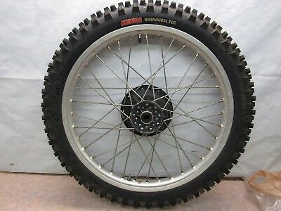 1976 Yamaha Yz 400 Oem Front Wheel /tire /brake Panel