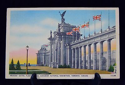 Princes Gates Postcard Canadian National Exhibition Toronto 1941 Posted to FL  r