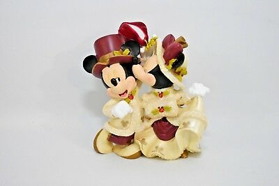 Disney Parks Christmas Victorian Minnie Mouse kissing Mickey Mouse Ornament