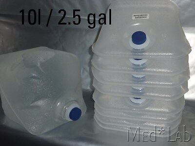 8 Hedwin 10L/2.5gal LDPE Collapsible Bottle Cubetainer liners