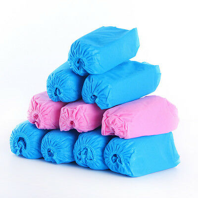 100pcs Disposable Non-woven Fabric Shoe Covers Elastic Breathable Anti-slip -WE8