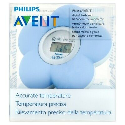 New AVENT Baby Digital Bath and Room Thermometer (Blue)