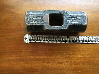 Vintage Plumb 4 Pound Sledge Hammer Head