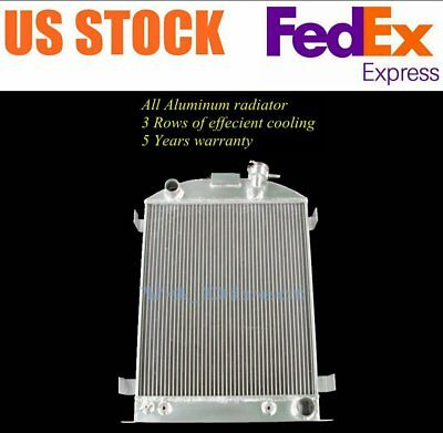 56mm aluminum radiator for Ford Car W//Chevy 350 V8 AUTO AT 1933-1934 33 34