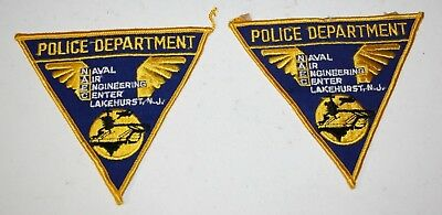 Naval Air Engineering Center Lake Hurst New Jersey Police Patch Retired