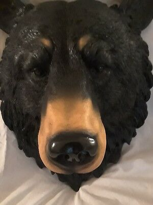 large realistic bear's head, wall mount, awesome!!!