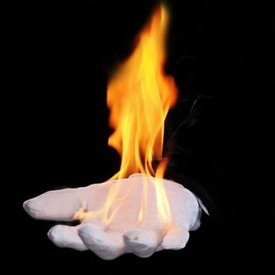 Close-Up Stage Magic Trick Burning Gloves Fire Gloves Empty-Handed On Fire US