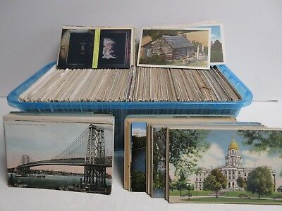 Box of 700+ US State Postcards