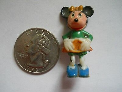 "Minnie Mouse - Antique/vintage - Disney - Tiny = Less Than 2"" - Made/hong Kong"