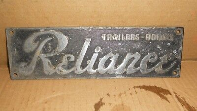Vintage Reliance Trailers-Bodies Emblem Metal Sign