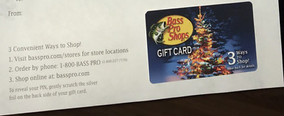 $100 Bass Pro Shops Physical Gift Card