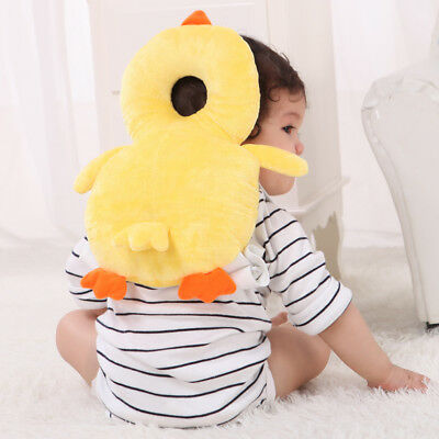 Safe Toddler Baby Head Back Neck Protection Pillow Headrest crawl Cushion JDF