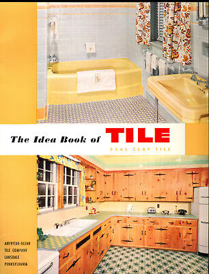 Lot of 2 Tile Catalogs Brochure Vintage 1950 And 2 Letters Instructions Envelope