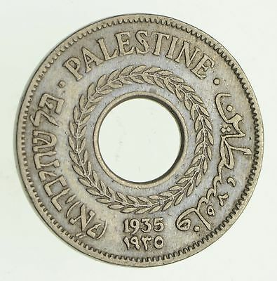 1935 Palestine 5 Mils - Historic World Coin *510