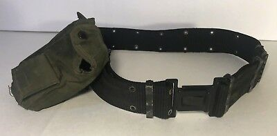 Chinese Army? Black ALICE-type Pistol Belt Quick Release Buckle + Canteeen Cover