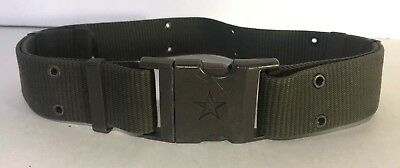 Chinese PLA Military Issued Pistol / Web Belt, OD w/ Snap Buckle - Army Star
