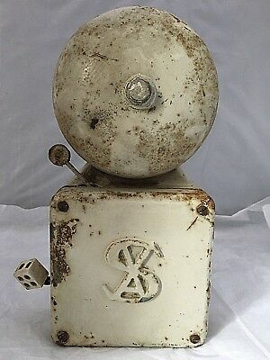 """VINTAGE 1930 40s wall mounted ELECTRIC FIRE or TELEPHONE BELL by SAX,11"""" X 5.5"""""""