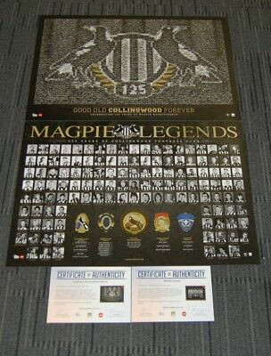 Collingwood Magpies 125 Years Anniversary Mosiac Legends Afl Prints Pack Buckley