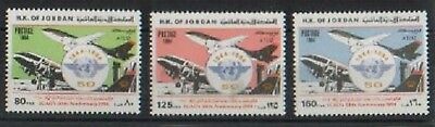 Jordan Scarce 50Th Ann Of Icao Planes Mnh R79 Sca