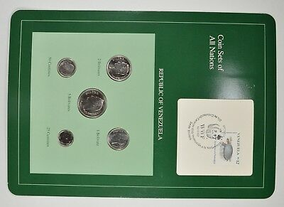 Coin Sets of All Nations - Republic of Venezuela - Stamp & Coin Set *4002