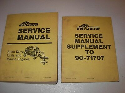 MerCruiser Stern Drive Units & Marine Engines Service Manual & Supplement