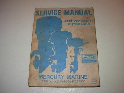 Mercury Outboards Service Manual all models , mid to late 1970's , p/n C-90-7551