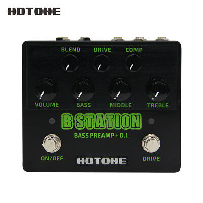 Hotone B Station Bass Preamp and D.I. Wide Tonal Range Guitar Effects Pedal