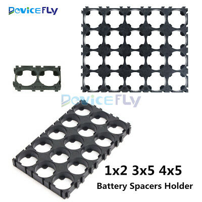 1/2/10Pcs 1x2 3x5 4x5 18650 Battery Cell Spacer Shell Pack Plastic Heat Holder