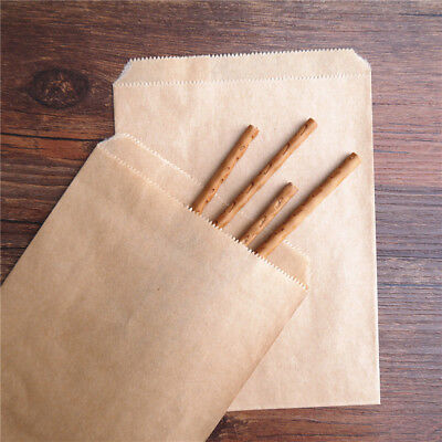 25X  Home Supply Party Candy Baking Kraft Paper Wrapper Bag V-shape Striped Dot