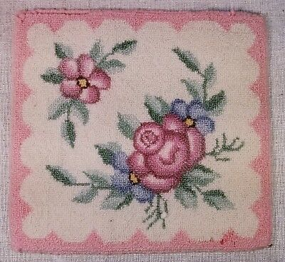 Floras Cheticamp Wool Rug Mat Dollhouse Hand Hooked