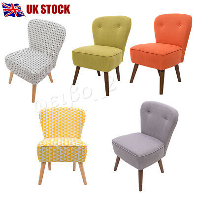 Linen Fabric Tub Accent Chair Upholstered Dining Living Room Bedroom Furniture