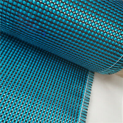 Lake Blue Aramid Carbon Fiber Blended Fabric 230gsm mixed carbon cloth 0.5㎡